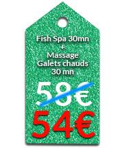 Fish Spa 30 mn + Massage Dos à la bougie 20 mn os à la